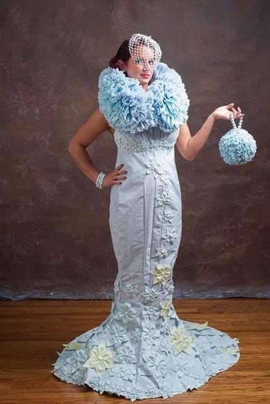 PapelHigienico3 Concurso dá R$ 22 mil para melhor vestido de papel higiênico